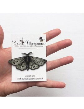 Moth Brooch // Illustrated Insect Jewellery    Spotted Moth by Etsy
