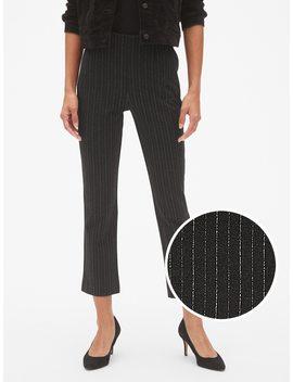 High Rise Stripe Crop Kick Pants by Gap