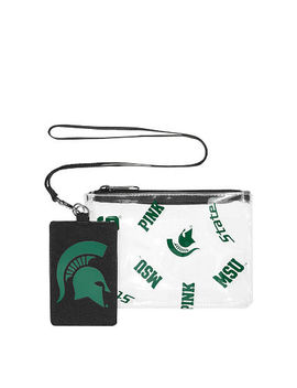 Michigan State University Lanyard Pouch Set by Victoria's Secret