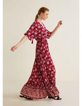 Длинное платье с цветочным принтом by Mango