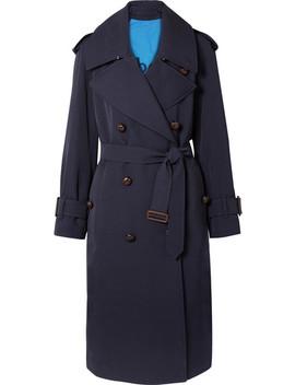 Regina Oversized Trenchcoat Aus Woll Gabardine by Burberry