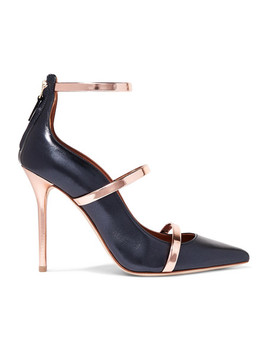 Robyn 100 Metallic Leather Pumps by Malone Souliers By Roy Luwolt