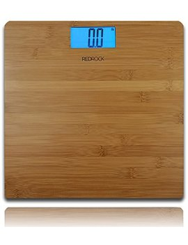 Modern Bamboo Weighing Body Scale 2016 Product 400 Pounds Wood Decor For Bath, Kitchen And Living Room by Red Rock