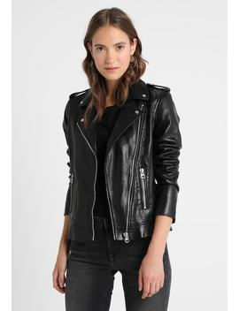 Biker Style   Leren Jas by Marc O'polo Denim