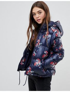Brave Soul Heavenly Padded Coat In Floral Print by Coat