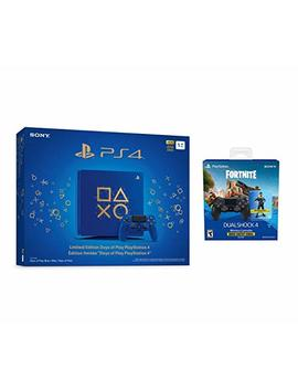 Playstation 4 Fortnite Limited Bundle: Playstation Exclusive Royale Bomber Outfit, 500 V Bucks, Days Of Play Limited Edition Slim 1 Tb Console With Extra Dualshock 4 Wireless Controller   Black by Sony