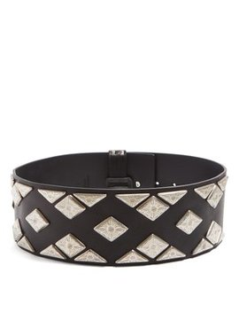 Studded Wide Leather Waist Belt by Matches Fashion