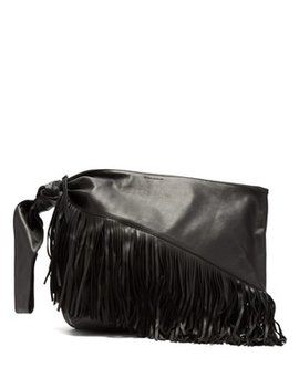 Farwo Fringed Leather Bag by Matches Fashion