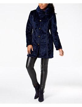 Faux Fur Reversible Coat by Laundry By Shelli Segal