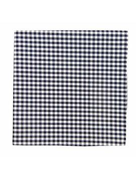 The Tie Bar Novel Gingham 100 Percents Cotton Pocket Square by The Tie Bar