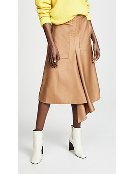 High Waisted Drape Skirt by Tibi