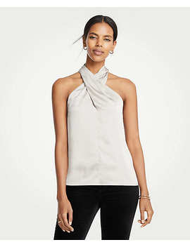 Petite Woven Halter Top by Ann Taylor