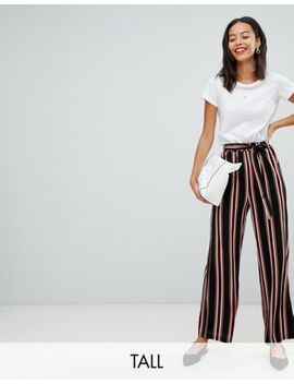 Parisian Tall Wide Leg Stripe Trousers by Tall Trousers