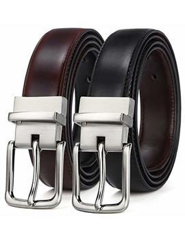 """Men's Belt, Bulliant Leather Reversible Belt 1.25"""",One Belt Reverse For Two Colors by Bulliant"""