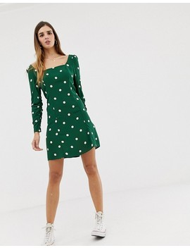 Nobody's Child Mini Dress With Square Neck In Spot Print by Nobody's Child