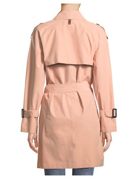 Cinzia Double Breasted Belted Rain Jacket by Neiman Marcus
