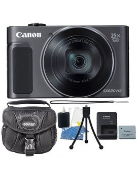 Canon Power Shot Sx620 Hs 20.2 Mp 25 X Optical Zoom Wifi / Nfc Enabled Point And Shoot Digital Camera Black With Premium Accessories by Canon International