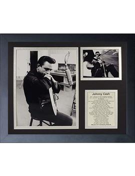 "Legends Never Die ""Johnny Cash Iii Framed Photo Collage, 11 X 14 Inch by Legends Never Die"