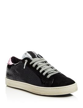 Women's John Embossed Patent Leather & Suede Lace Up Sneakers by P448