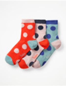 Three Pack Ankle Socks by Boden