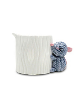 Knit Effect Mouse On A Log Milk Jug by Asda
