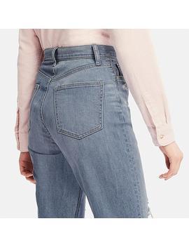 Jeans Droit Taille Haute Longueur 7/8e Femme by Uniqlo
