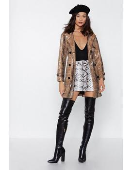 I Got Hiss Snake Trench Coat by Nasty Gal