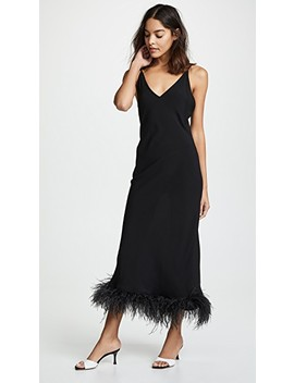 Black Viscose Slip Dress by Sleeper