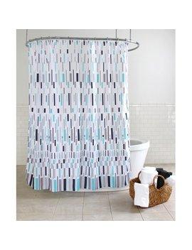 "Splash Home Bars Polyester Fabric Shower Curtain, 70"" X 72"", Blue by Splash Home"
