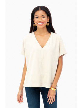 Clara Suede Top by Marie Oliver