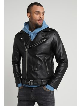 Biker Move On Flow   Imitatieleren Jas by Topman