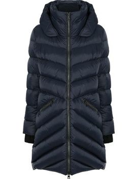 Monia Quilted Shell Down Hooded Coat by Soia & Kyo