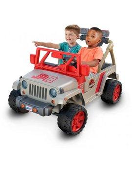Power Wheels Jurassic Park Jeep Wrangler Ride On Vehicle by Power Wheels