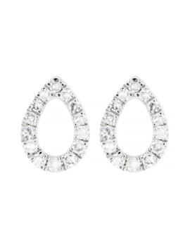 Carrière Diamond Open Pear Shape Stud Earrings by Carriere Jewelry