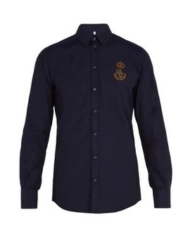 Logo Patch Cotton Shirt by Matches Fashion