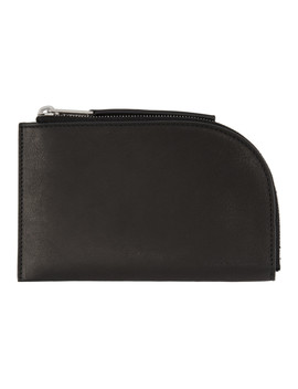 Black Small Wallet by Rick Owens