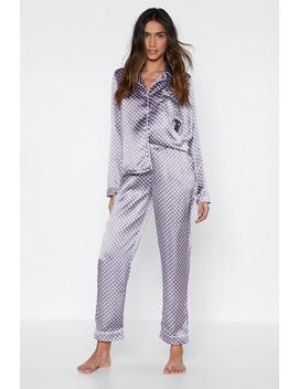 Mark The Spot Polka Dot Top And Pants Pajama Set by Nasty Gal