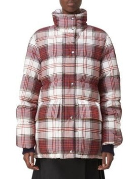 Selsey Check Puffer Jacket by Burberry