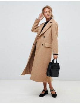 New Look Tailored Maxi Coat In Camel by New Look