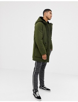 Asos Design Heavyweight Parka In Green by Asos Design
