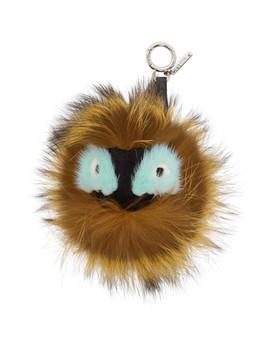 Brown 'bag Bugs' Fur Keychain by Fendi