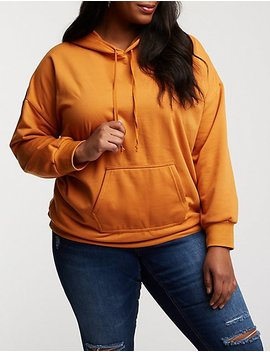 Plus Size Hooded Tunic Sweatshirt by Charlotte Russe