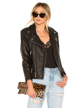 Cropped Moto Leather Jacket by Anine Bing