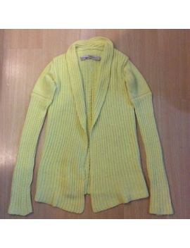 Auth Vtg Rick Owens 2004 Queen Season Yellow Knit Pattern Mix Wool Cardigan Us 8 by Rick Owens