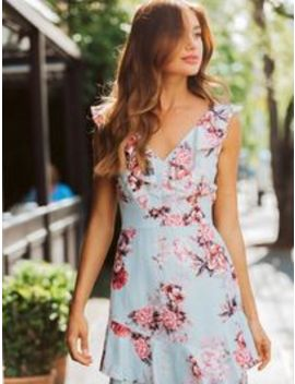 Elise Floral Ruffle Mini Dress by Forever New