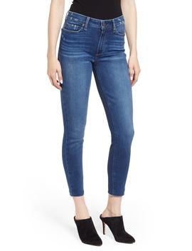 Hoxton High Waist Raw Hem Ankle Skinny Jeans by Paige
