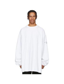 White Inside Out Shark Sweatshirt by Vetements