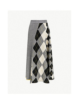 Checked Wool Midi Skirt by Pringle Of Scotland