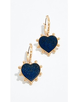 Semi Precious Heart Charm Earrings by Tory Burch