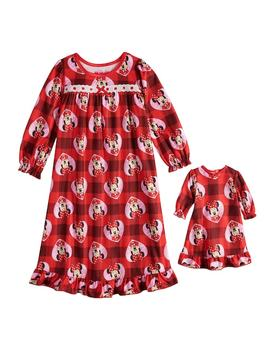 Disney's Minnie Mouse Toddler Girl Plaid Nightgown & Matching Doll Gown by Kohl's